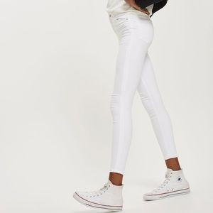 Topshop Moto Jamie White Skinny Jeans